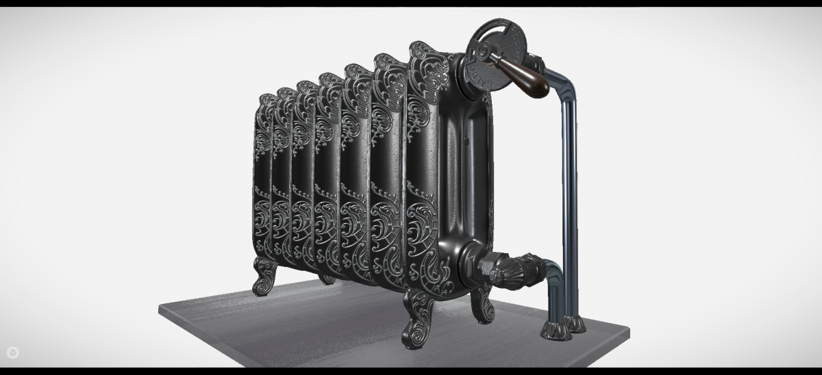 Oxford cast-iron radiator FBX model