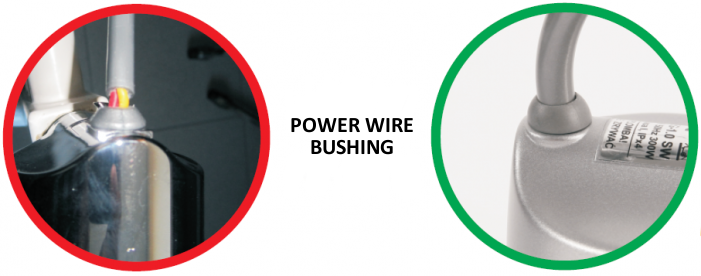Power wire bushing
