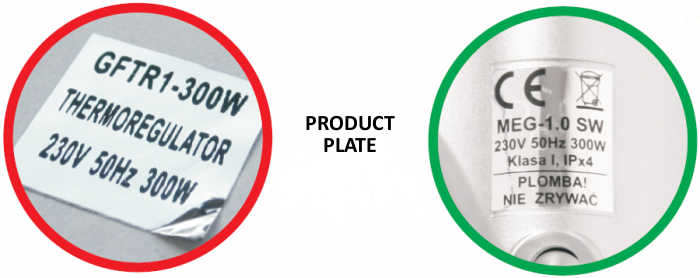 Product plate