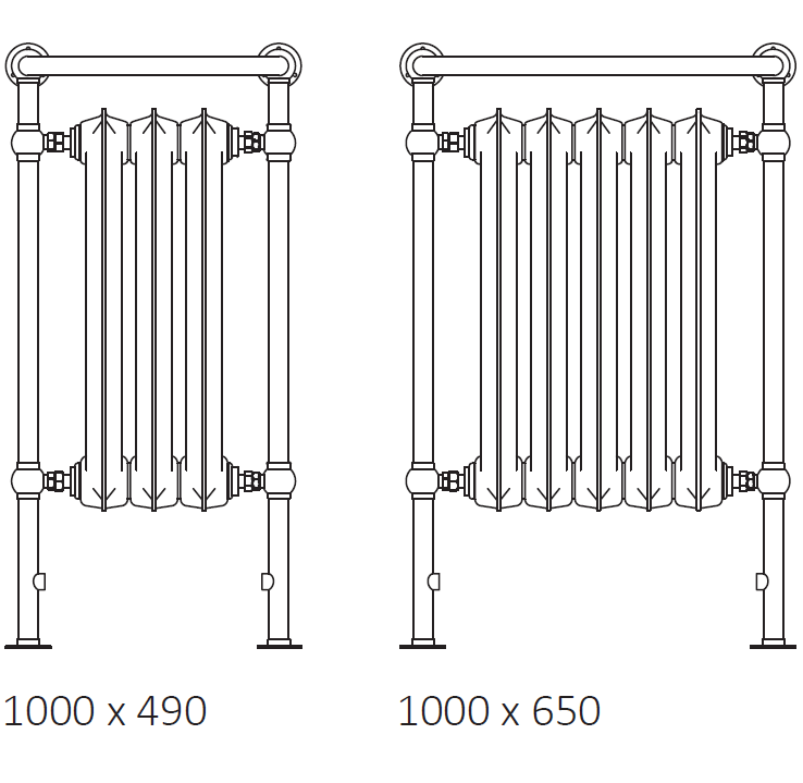 size: Plain Towel Rail 1000