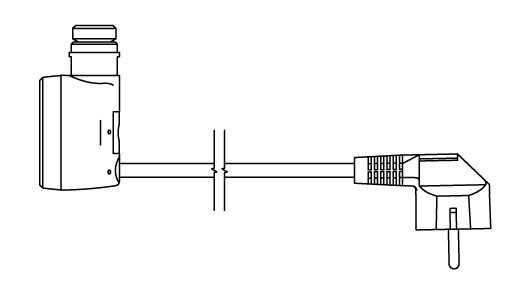 Straight cable with plug (W)