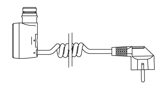 Spiral cable with plug (U)