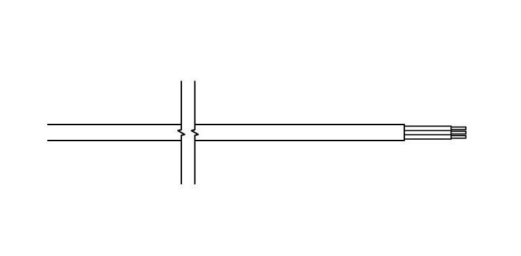 <p>straight cable, n/plug</p>