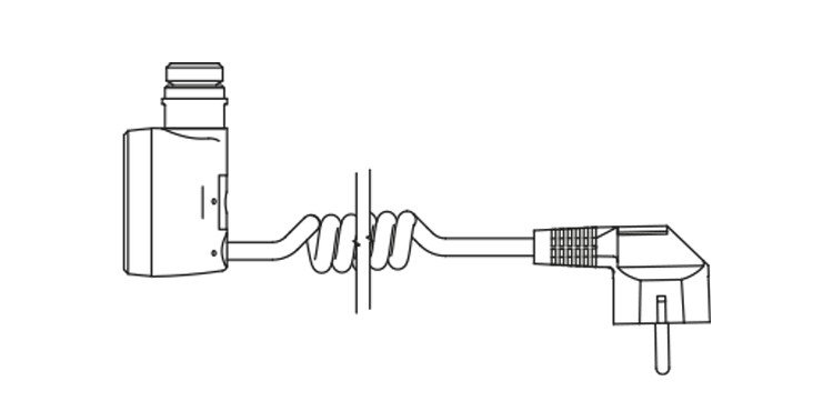 <p>U -coiled cable with plug</p>